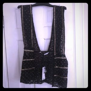 Zara beaded lace vest